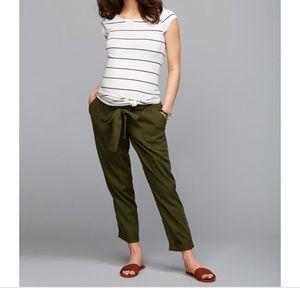 Under Belly Skinny Leg Maternity Crop Pants